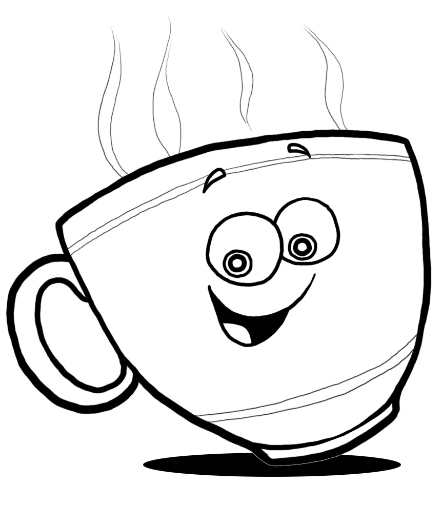 Coffee clipart smile Cup cup clip coffee happy