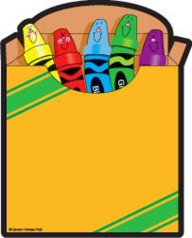Box clipart coloring Art Crayon Crayon box Box