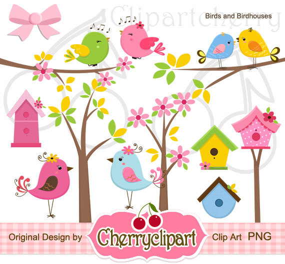 Cards clipart paper And crafts Birds card Digital
