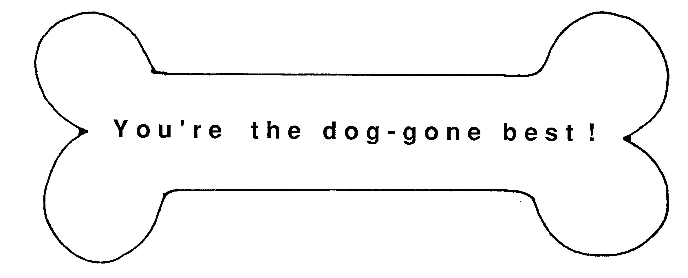 Templates  clipart dog Bone Template Download To Dog