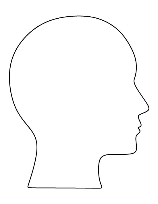 Templates  clipart face Outline head Pinterest the template