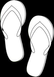 Sandal clipart black and white #5
