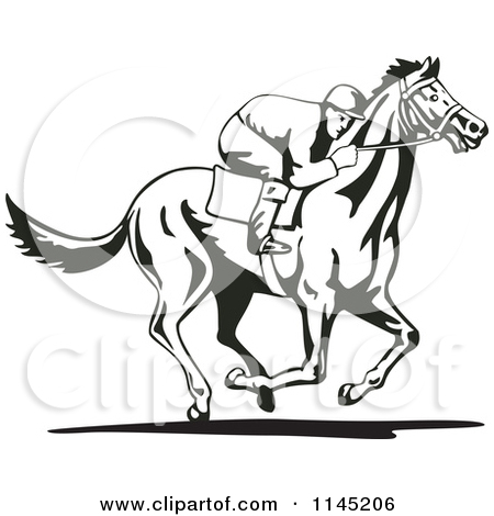 Horse Racing clipart christmas Stock Clipart racehorse Race Free