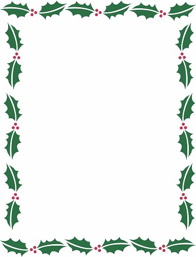 Holley clipart christmas letter Documents Clip library Word Borders