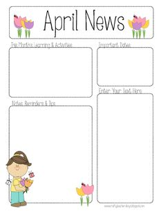 Template Free Newsletter Newsletter Printable