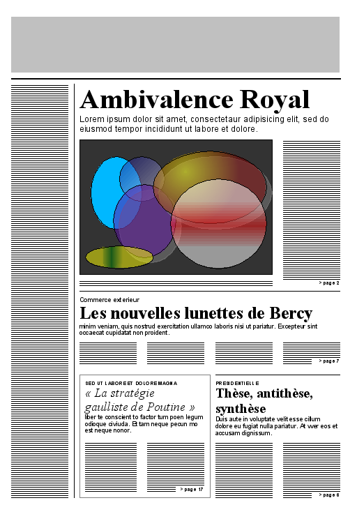 Templates  clipart newspaper front page #11