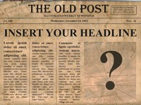 Templates  clipart newspaper front page #14