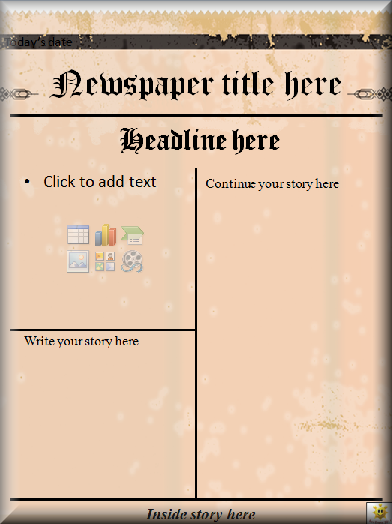 Templates  clipart newspaper front page #15