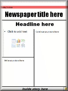 Templates  clipart newspaper front page #6