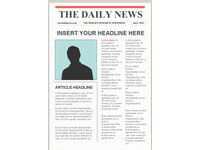 Templates  clipart newspaper front page #13