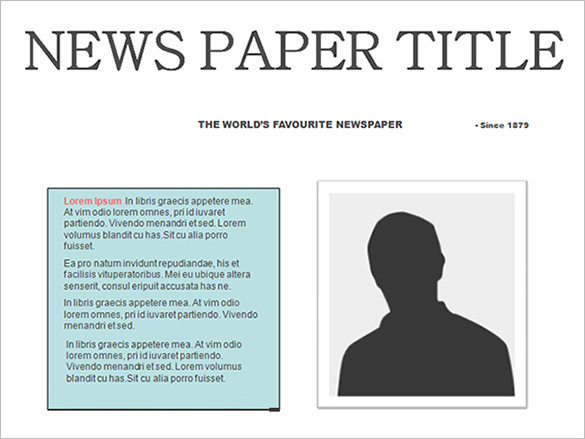 Templates  clipart newspaper layout – Free Newspaper Template PSD