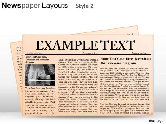 Templates  clipart newspaper layout Graphics PowerPoint And Slides and