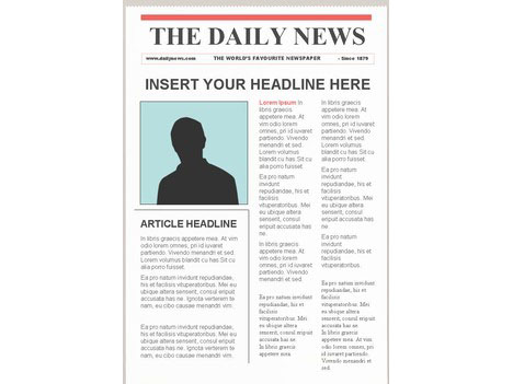 Templates  clipart newspaper layout Portrait – Editable Newspaper Template