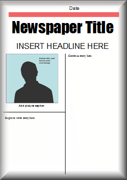 Templates  clipart newspaper layout Literacy