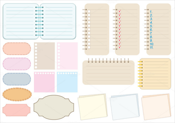 Templates  clipart notebook paper #5