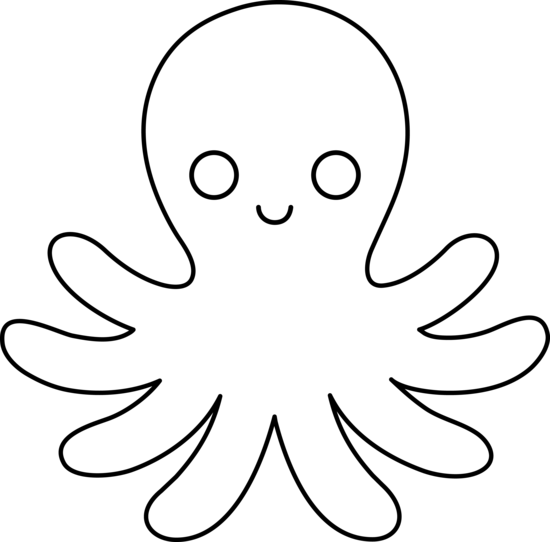 Simple clipart octopus #1