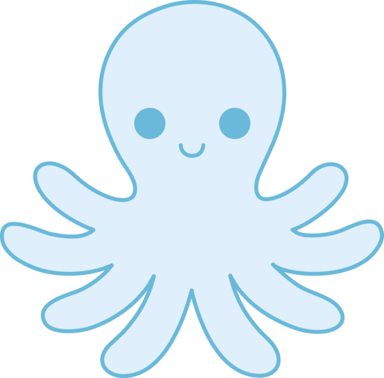 Simple clipart octopus #2