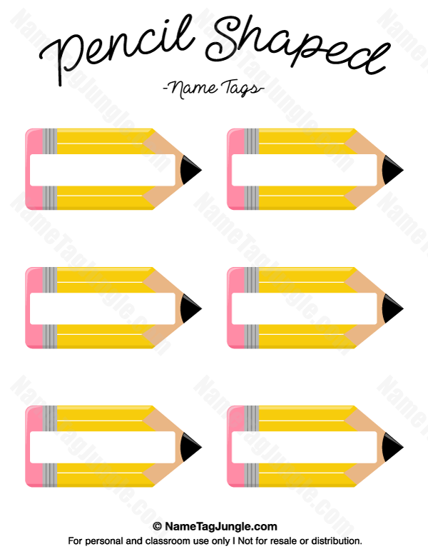 Templates  clipart pencil Name used printable The printable