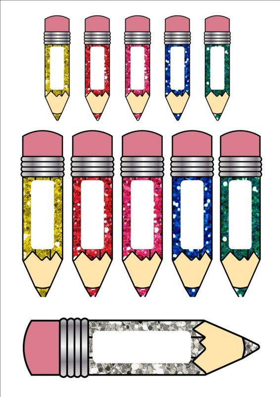 Templates  clipart pencil Name page different 1 tag