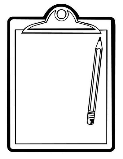Templates  clipart pencil Printables Clipboard Clipboards and pencil