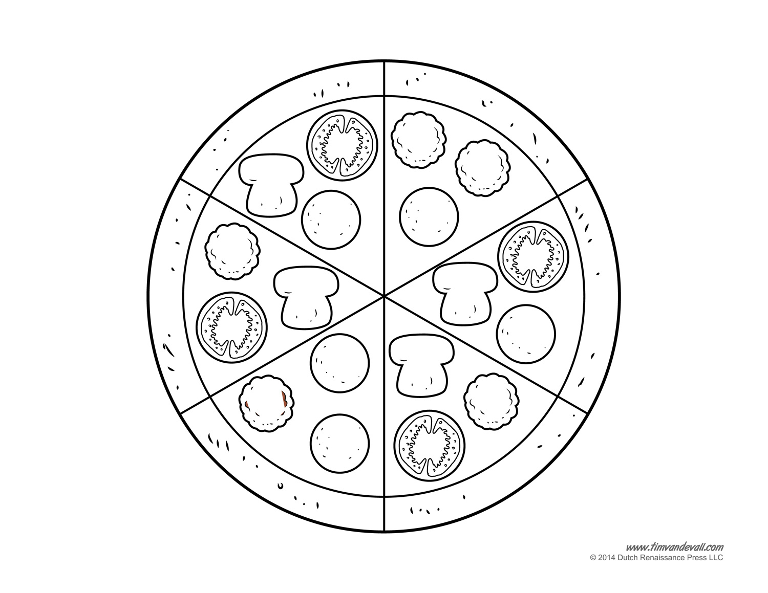 Pizza clipart blank Template clipart Clipart page pizza