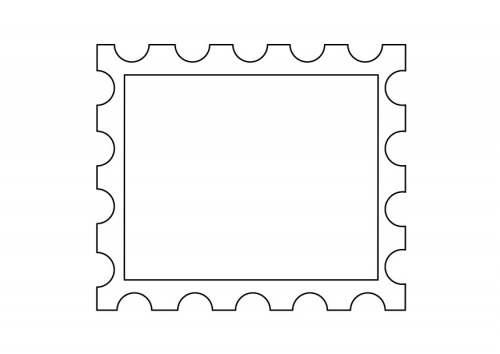 Templates  clipart postal stamp #11