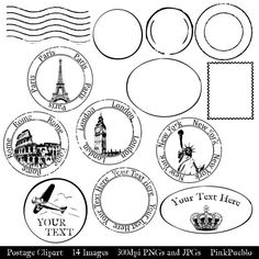 Templates  clipart postal stamp #12