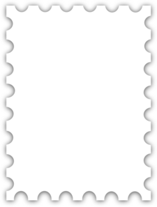 Templates  clipart postal stamp #2