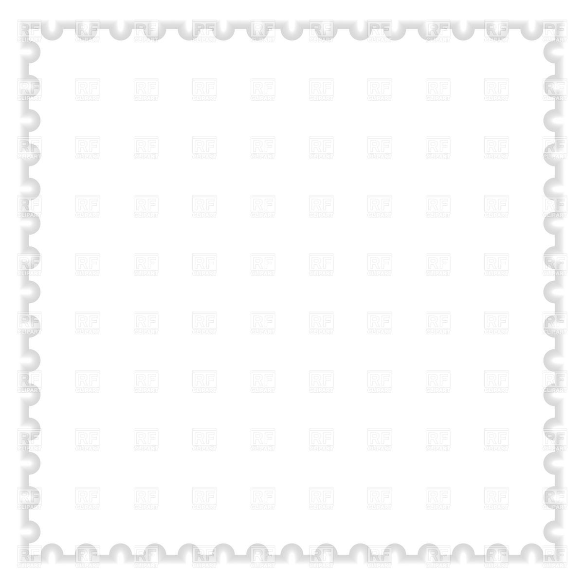 Templates  clipart postal stamp #5