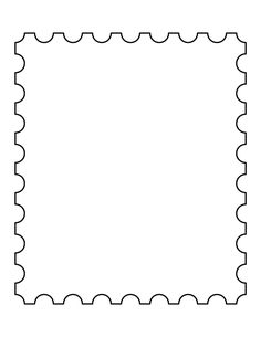 Templates  clipart postal stamp #7