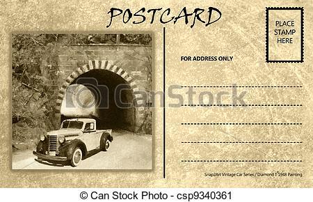 Templates  clipart postcard Stock Template Car Postcard Car
