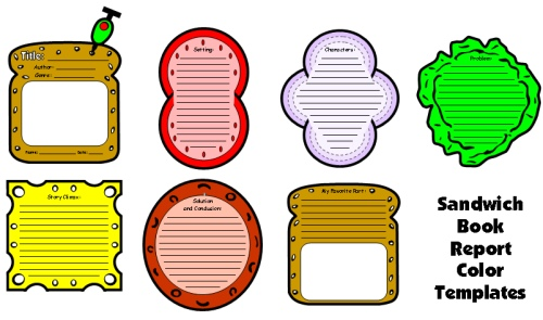 Sandwich templates Book and Report