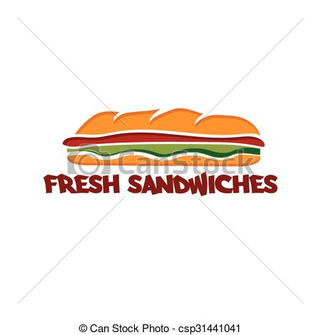 Of template sandwich EPS vector