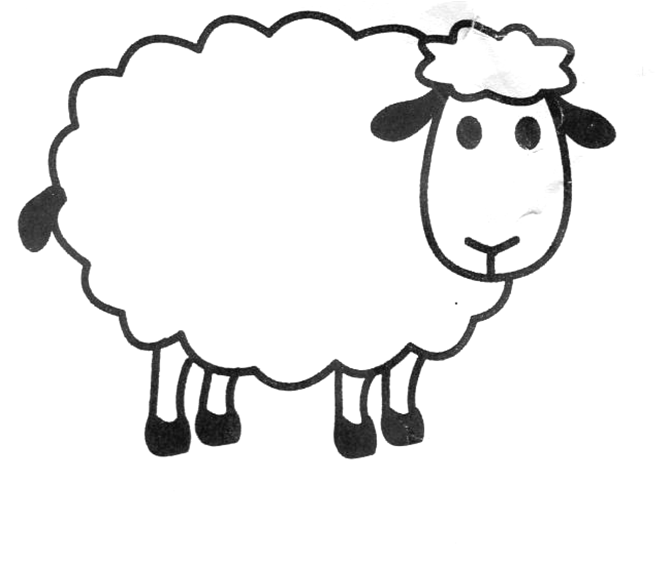 Sheep clipart printable #1