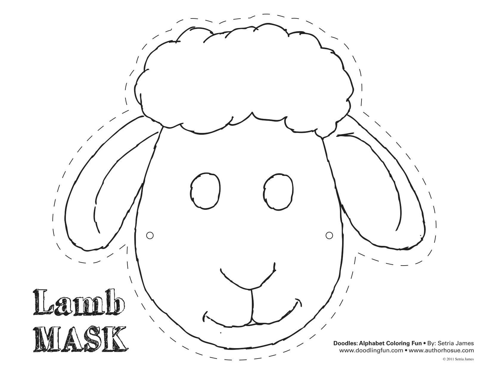 Templates  clipart sheep Template Sheep Sheep mask mask