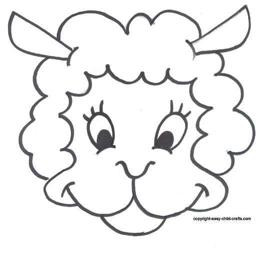 Templates  clipart sheep Template Free Sheep Printable Mask