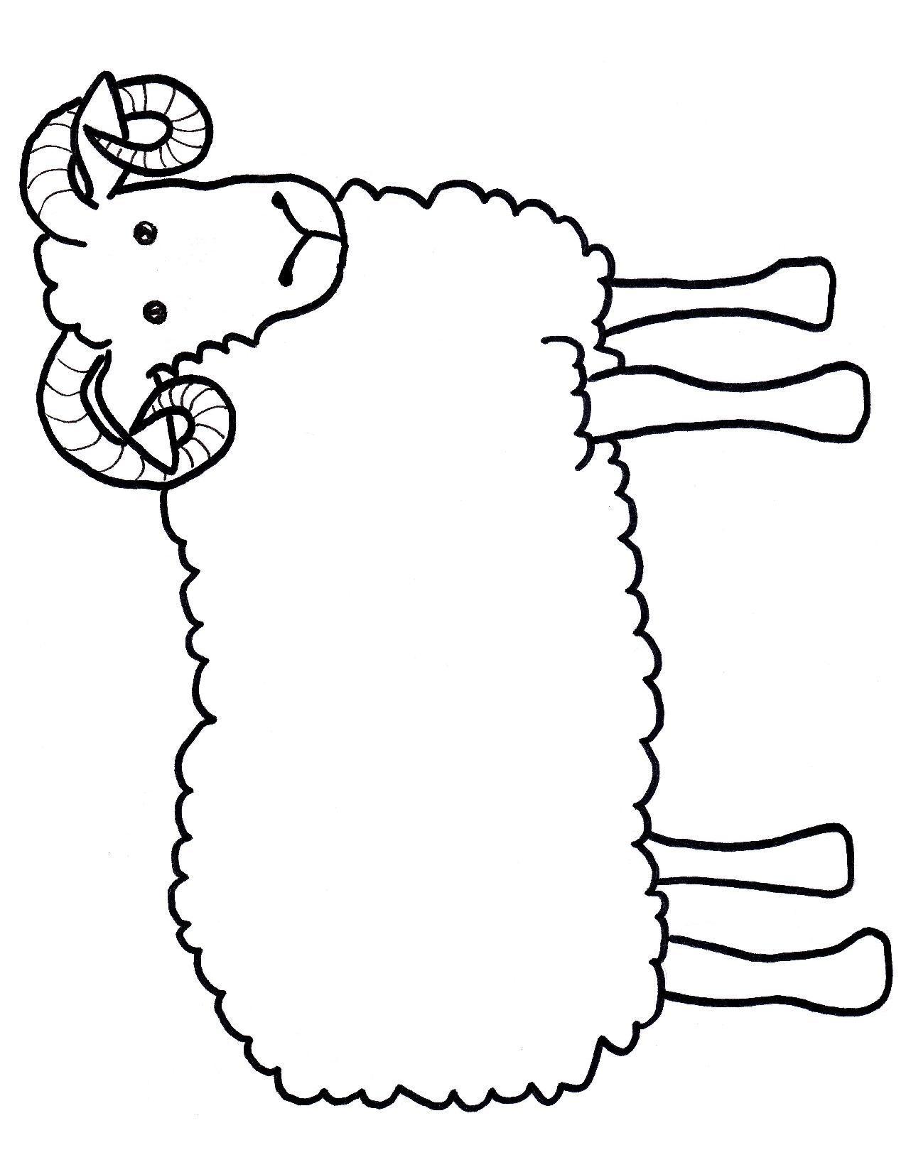 Templates  clipart sheep Ram kids craft craft chinese