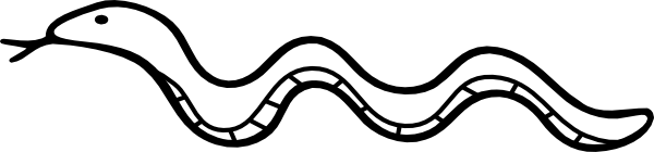Templates  clipart snake #15