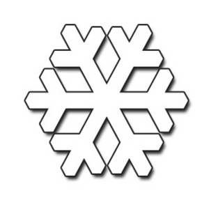 Templates  clipart snowflake #10