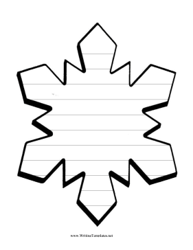 Templates  clipart snowflake #13