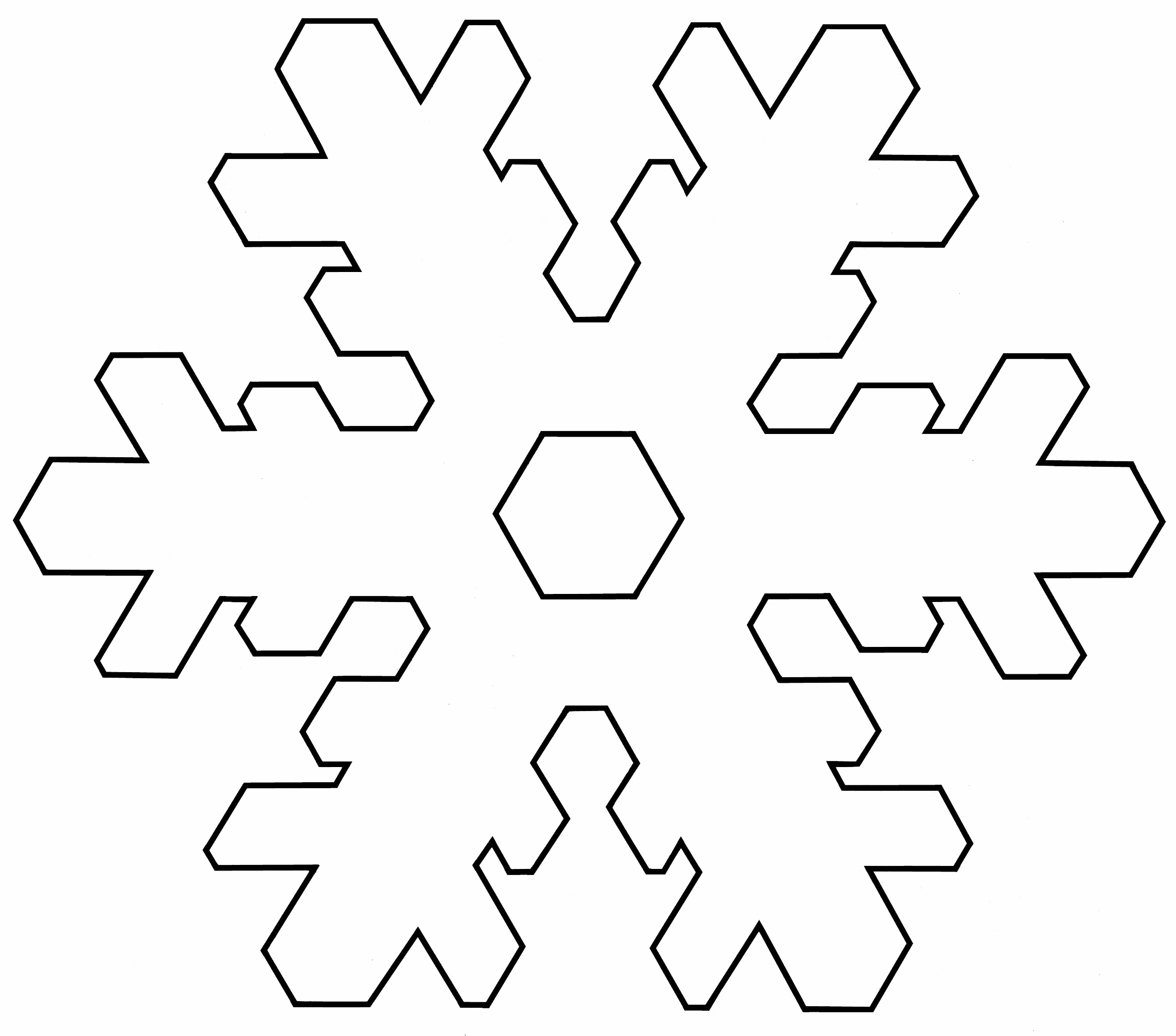 Templates  clipart snowflake #15