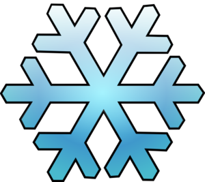 Snow clipart simple snowflake The printing template of as