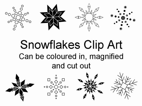 Templates  clipart snowflake #14