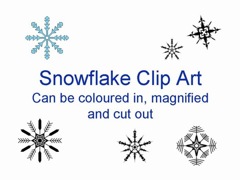 Templates  clipart snowflake #11