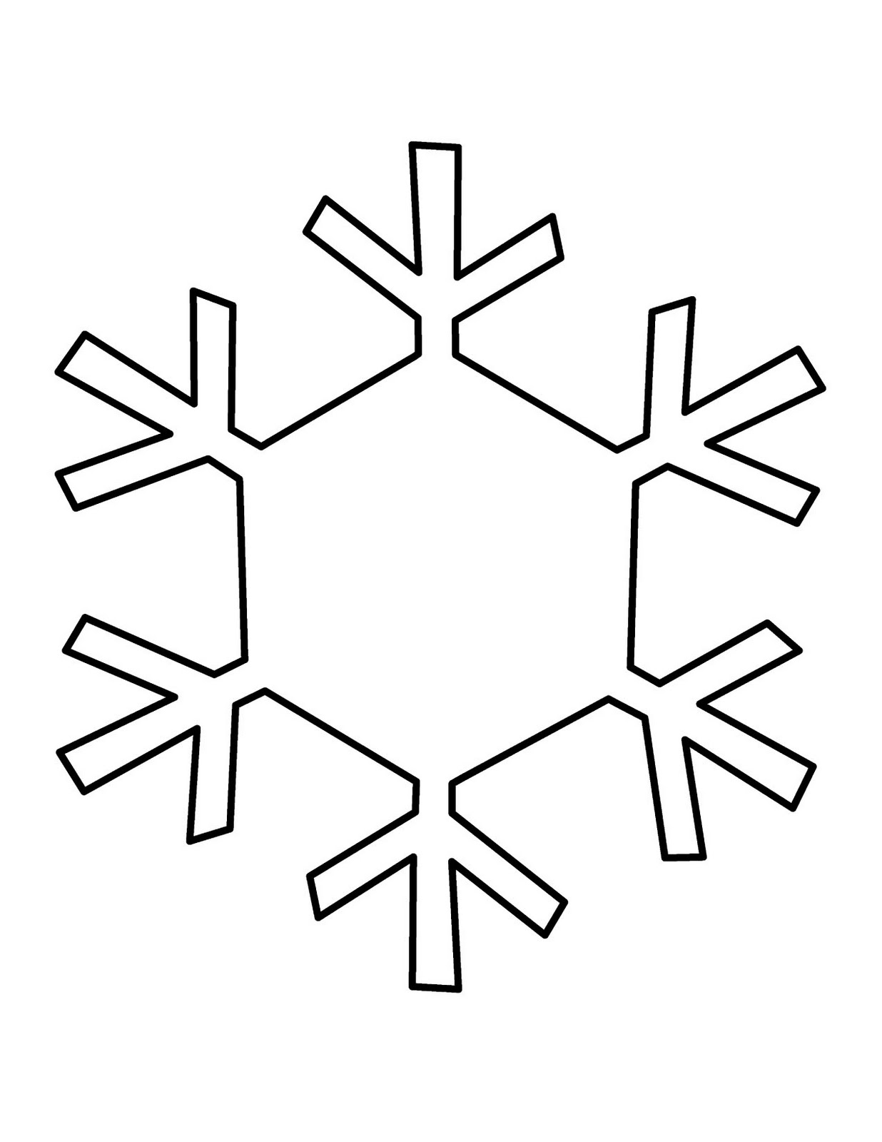 Templates  clipart snowflake #7