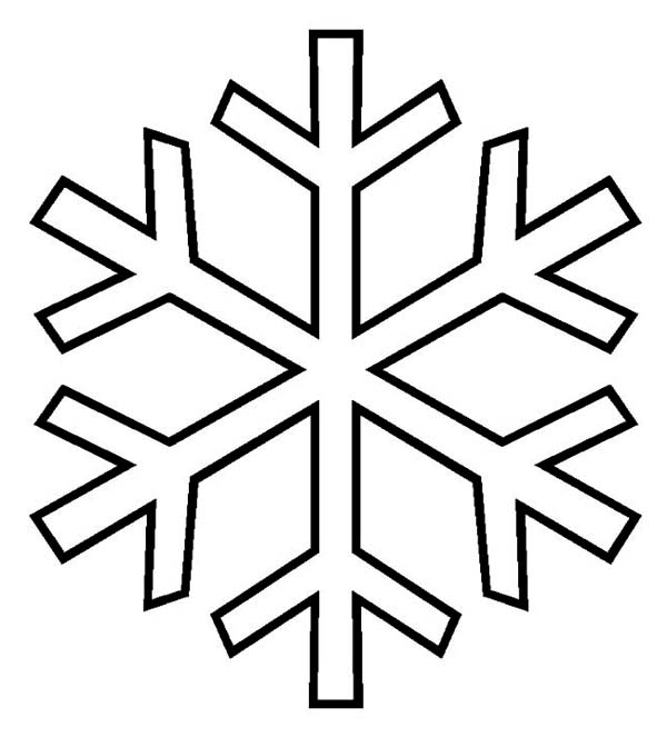 Templates  clipart snowflake #9