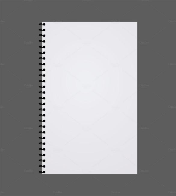 Templates  clipart spiral notebook #7
