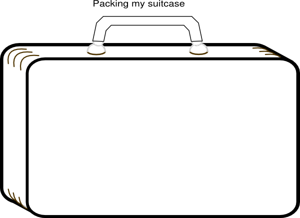 Templates  clipart suitcase Template of: Gallery Blank Templates