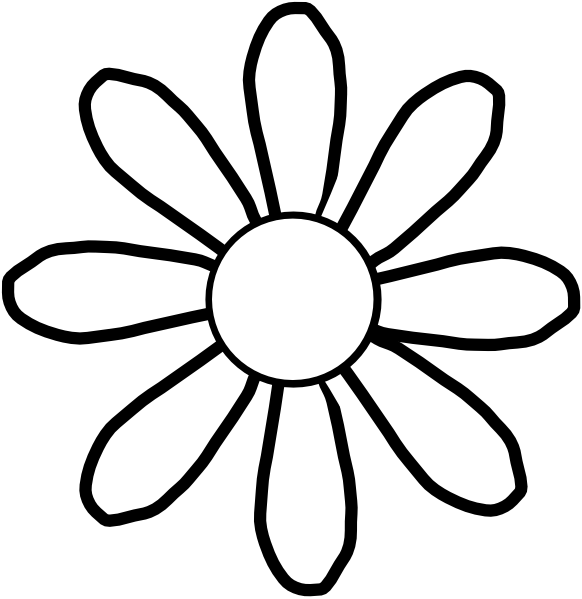Simple clipart sunflower Flower Page Is Templates This