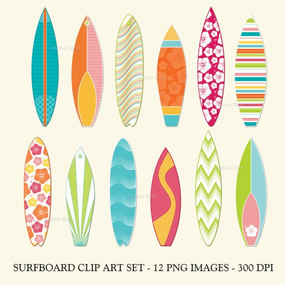 Templates  clipart surfboard Printable set clip download clip